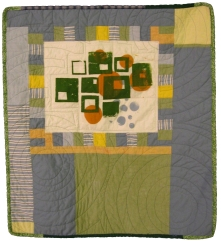 Green Squares and Circles Quilt, 2007